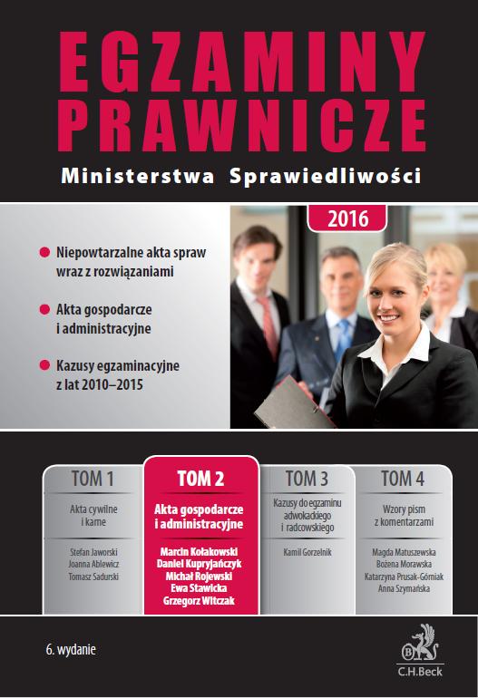 Egzaminy prawnicze Ministerstwa Sprawiedliwości Akta gospodarcze i administracyjne