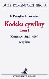 Kodeks cywilny Komentarz do art 1-449