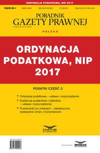 Ordynacja podatkowa 2017 NIP Administracja podatkowa