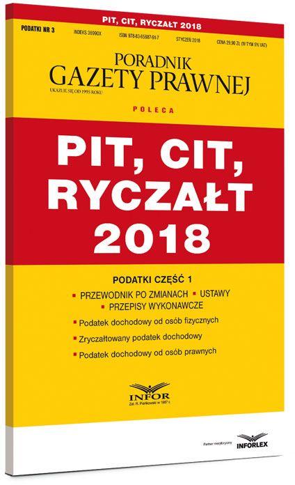 PIT CIT ryczałt 2018 Podatki część 1