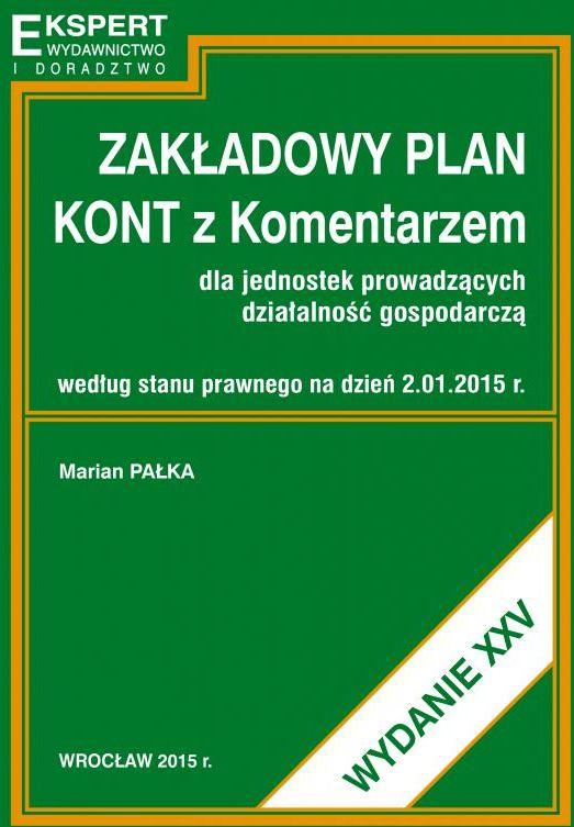 Zakładowy plan kont 2015