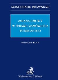 Zmiana umowy w sprawie zamówienia publicznego